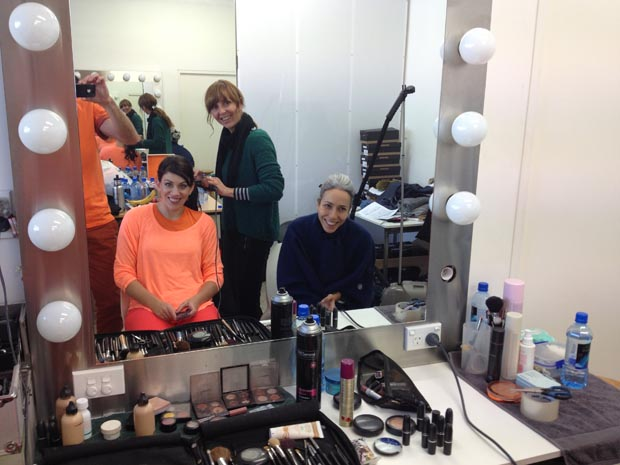 Loz gets oranged up for the brand photoshoot!