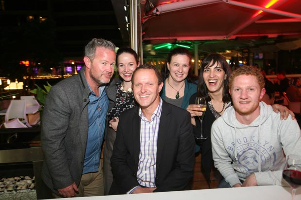 Some of the TV3 team: Ged Mahony, Amanda Wilson, Mark Caulton, Lori Gibbs, Anna Pillay, Josh