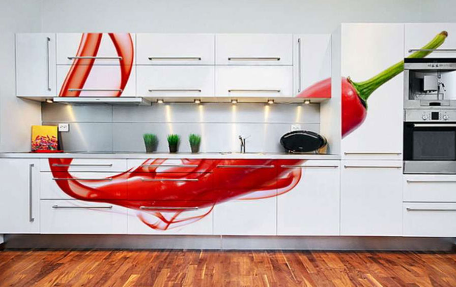 Yes you can put a massive chili on all your kitchen cupboards!
