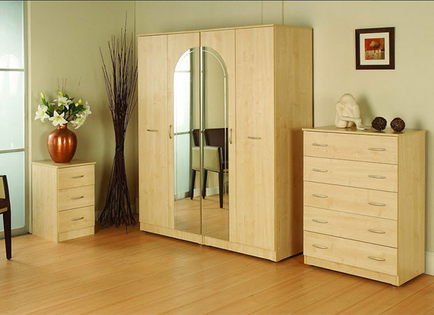 Close your wardrobe doors at night to promote a peaceful sleep.