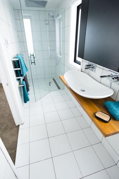 Ensuite complete with double taps