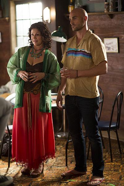 Ingrid and Olaf at The Thing at the bar