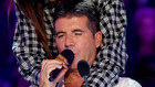 Simon takes the microphone to sing for the first time in X FACTOR history.
