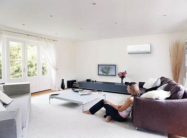 Mitsubishi Electric's GE Series Heat Pumps can be used to efficiently cool you home in summer also