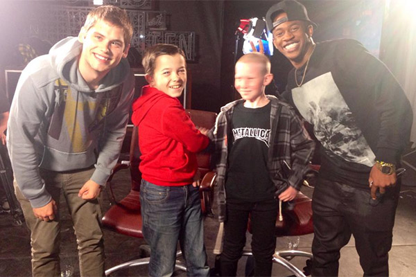 The Jono and Ben at Ten kids with the kids from MKTO