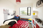 Loz and Tom went for a simple room with lots of fun, bright elements