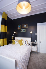 Black walls is a very bold move from Alice and Caleb!