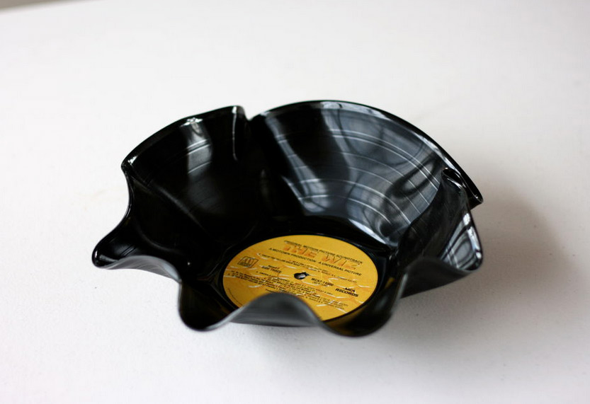 These are quite a popular gift. Turn your old records into dessert bowls or you can buy them from gift stores online