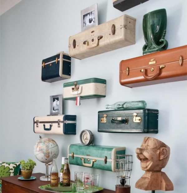 When shelves themselves become upcycled works of art