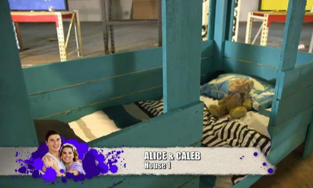 Alice and Caleb's kids bed