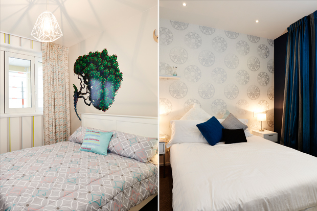 Quinn and Bens bedrooms