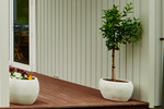 Adding some decor to the stunning deck with some pot plants