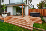 Nice big deck and spa will be a selling point with potential buyers.