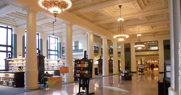 Grand interior of the Library