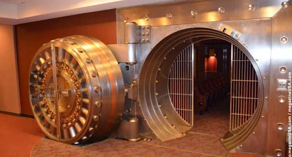A cinema inside a vault