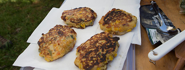 Corn Fritters by Libby and Elliot