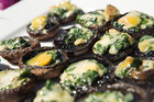 Blue Cheese and  Spinach Stuffed Mushrooms by Libby and Elliot