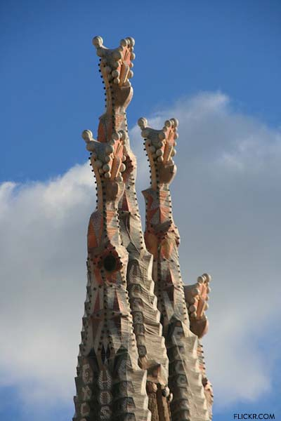 One of the Sagrada Familia spires