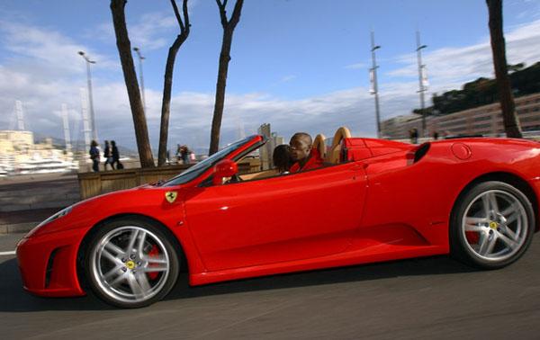 Usain Bolt -Ferrari California (biography.com)