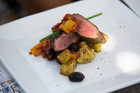Coffee Crusted Lamb with Peperonata