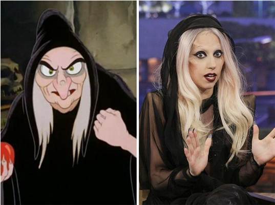 Lady Gaga is the Evil Queen in disguise