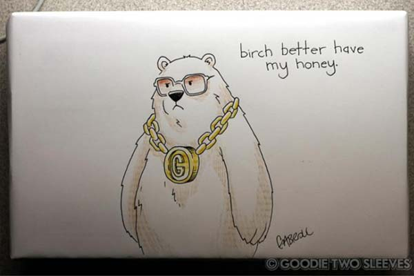 I wanted to see if you could draw a bear wearing a fat gold chain.
