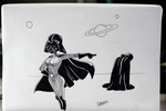 Can you draw the future Mrs. Darth Vader demanding a better engagement ring?