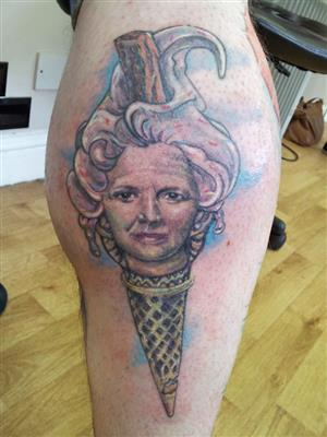 Margaret Thatcher as an ice-cream? - Image: thetattooshopgrandtham.co.uk