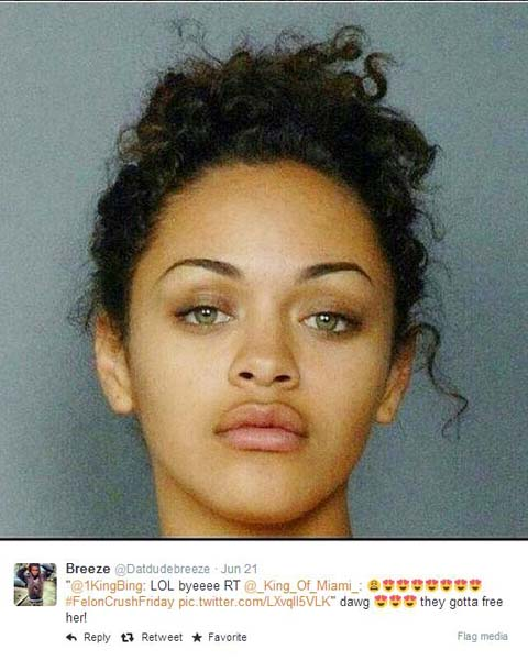 """Dawg they gotta free her!"" Are good looks reason enough for a pardon?"