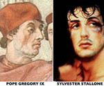 Sylvester Stallone and Pope Gregory IX
