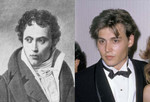 Johnny Depp and german Philosopher Arthur Schopenhauer. Close enough