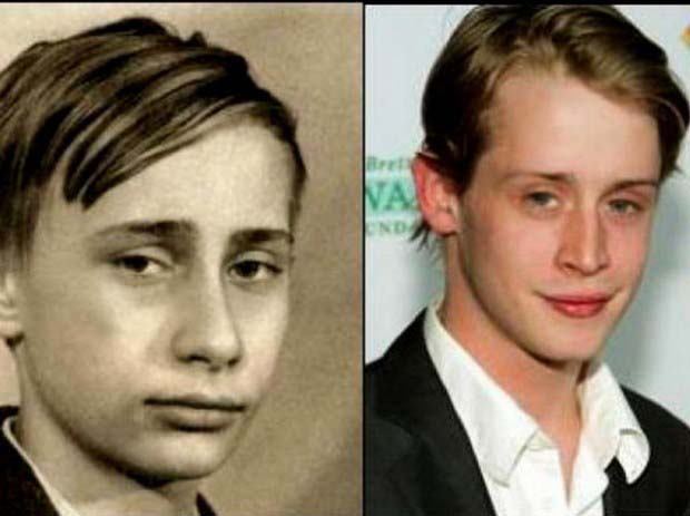 Macaulay Culkin and the young Vladimir Putin