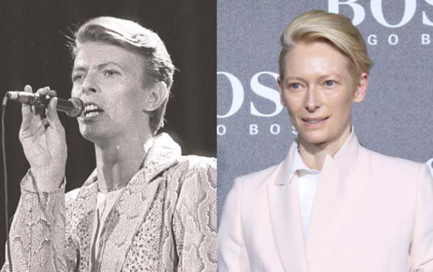 "Tilda Swinton and David Bowie - perhaps ""olden day twin"" is a bit harsh here"