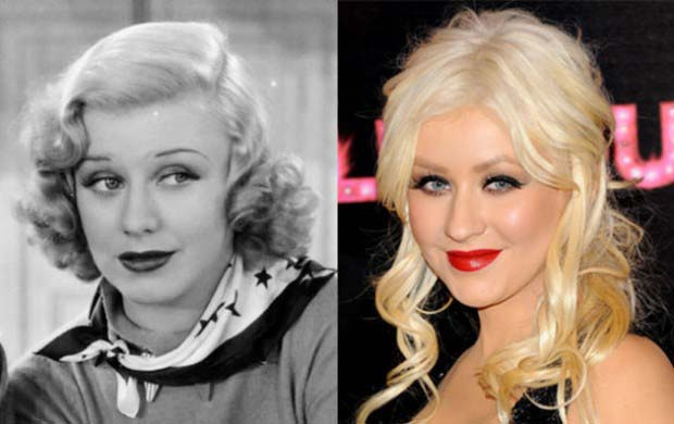 Christina Aguilera and Academy Award winning actress, Ginger Rogers