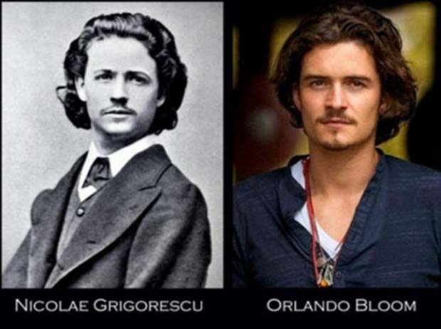 Orlando Bloom and similarly-chiselled Nicolae Grigorescu