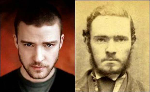 Justin Timberlake and this criminal from a mugshot