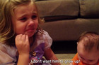 Cute 5-Year Old Doesn't Want Her Baby Brother To Grow Up