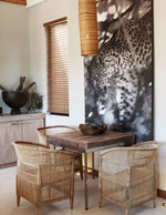 Play with different wood textures - and throw in a large photograph of a cheetah for good measure!