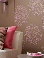 Floral motifs are a pretty way to accentuate a room