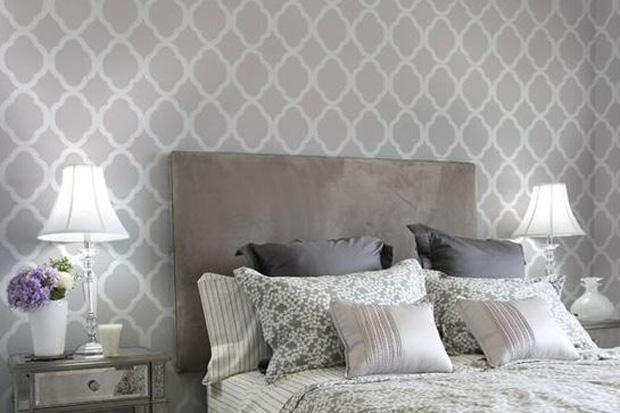 Tip 6 : Buy a can of paint that complements your current wall colour then use the stencilling technique to create a feature wall!