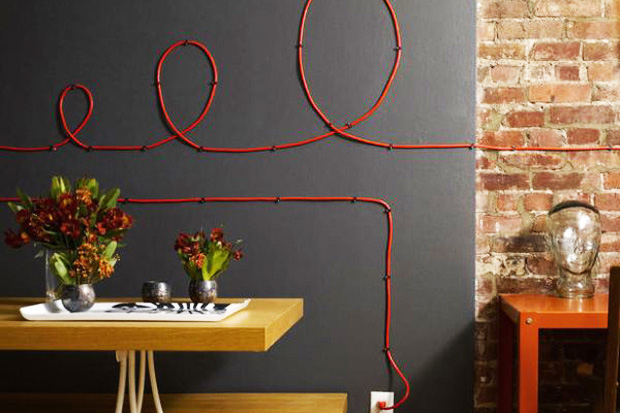 Who needs a painting when you have coloured cables?