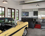 Add a bit of a man cave to your  garage!