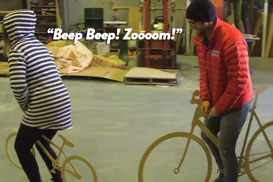 Saving money by making wooden bikes!