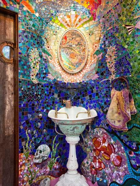 Stunning Gaudi-inspired mosaic tiling