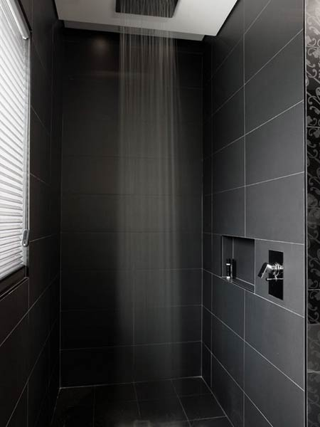 Very sleek and modern with - you guessed it - a rain shower!