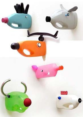 Save up your milk bottles and make these fun animal-friendly mounted trophy heads!