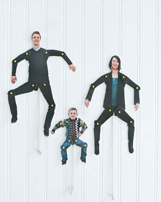 Print photos of each family member on card, cut them out and have fun with ke-raazy limbs attached with pins!