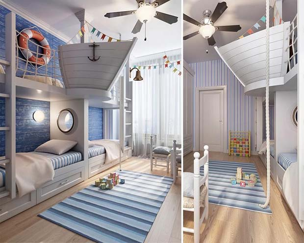 Beautiful Ship Captain's Lookout And Bedroom