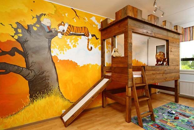 Calvin and Hobbes Bedroom