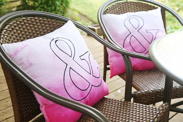 Quirky cushions aren't just for your living room. Don't forget to bring them in when it rains though!